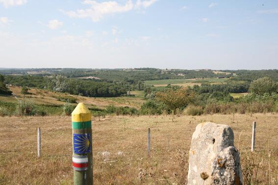 Auros : Vers Saint-Jacques-de-Compostelle
