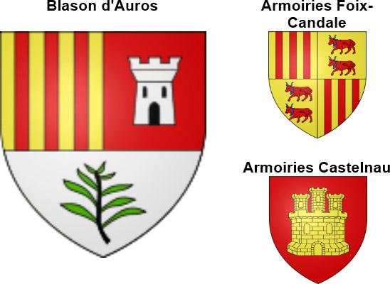 Histoire d'Auros : Blasons