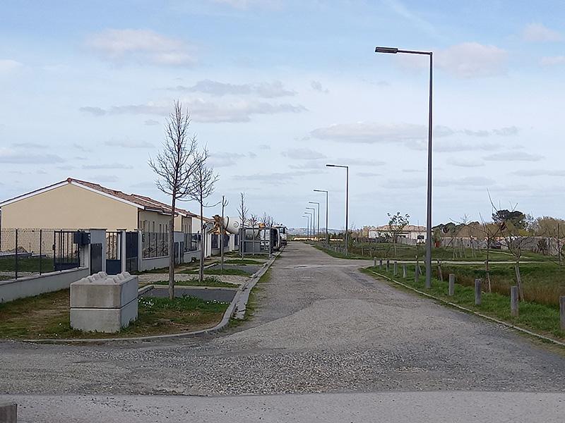 Auros : Voirie Ecoquartier