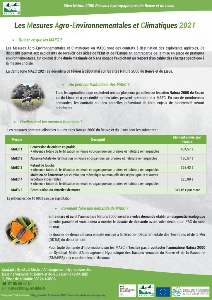 Mesures Agro-Environnementales et Climatiques Beuve et Lisos